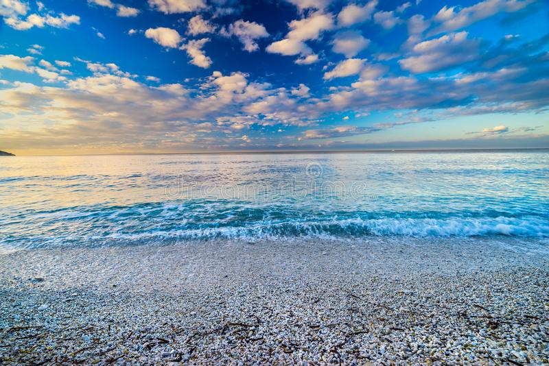 Capo Bianco Beach, Portoferraio, Elba Island, Italie photo libre de droits