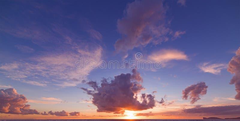 Capo Caccia στο ηλιοβασίλεμα στοκ φωτογραφία