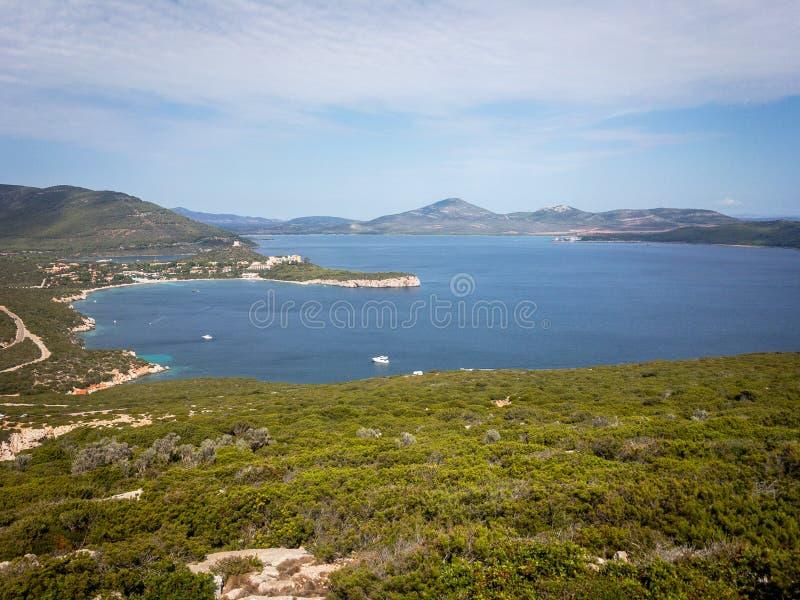 Capo Caccia Isola Piana de zone protégée de marine photo libre de droits