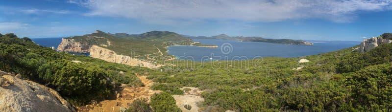 Capo Caccia Isola Piana de zone protégée de marine image stock