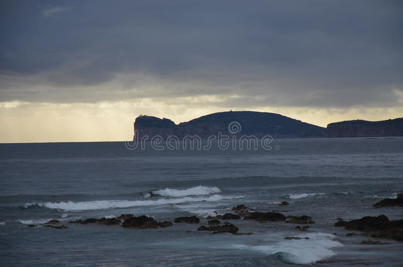 Capo Caccia perto de Alghero, Sardinia, It?lia fotos de stock