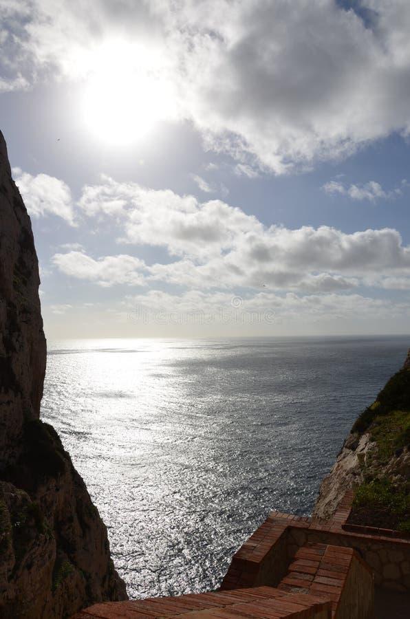 Capo Caccia près d'Alghero, Sardaigne, Italie photos libres de droits