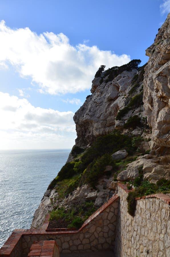 Capo Caccia près d'Alghero, Sardaigne, Italie photographie stock libre de droits
