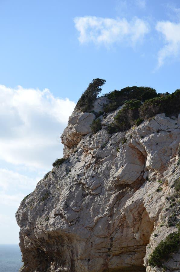 Capo Caccia près d'Alghero, Sardaigne, Italie images stock