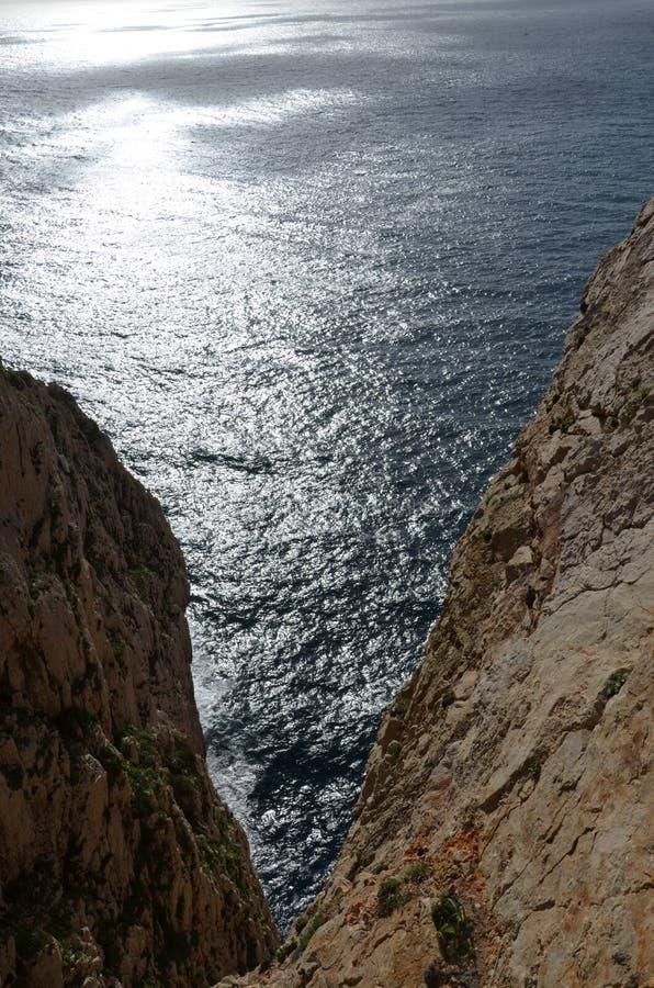 Capo Caccia pr?s d'Alghero, Sardaigne, Italie images libres de droits