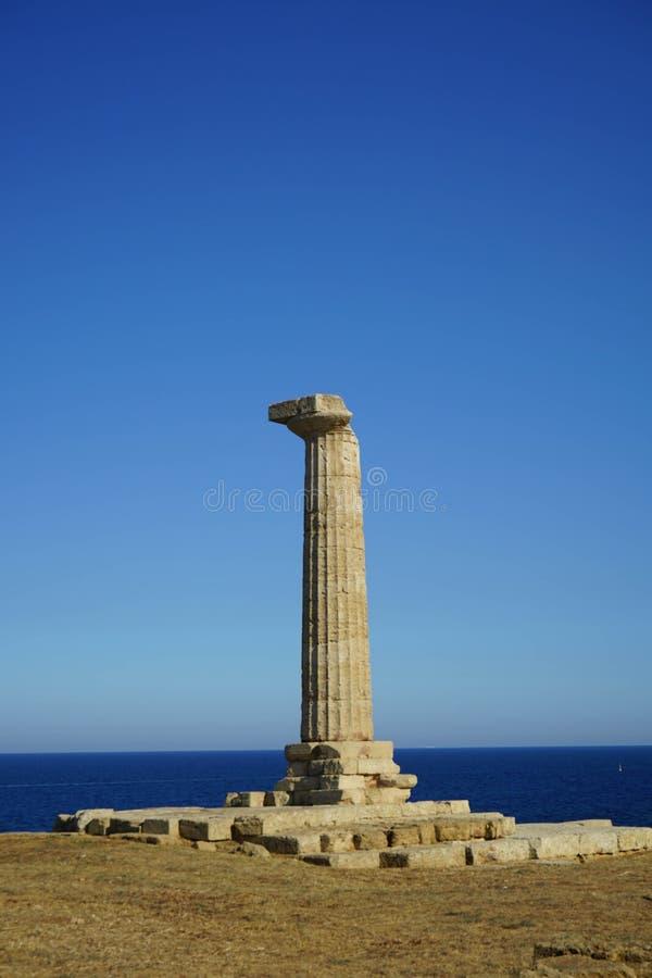 Capo Colonna - temple de Hera Lacinia image libre de droits