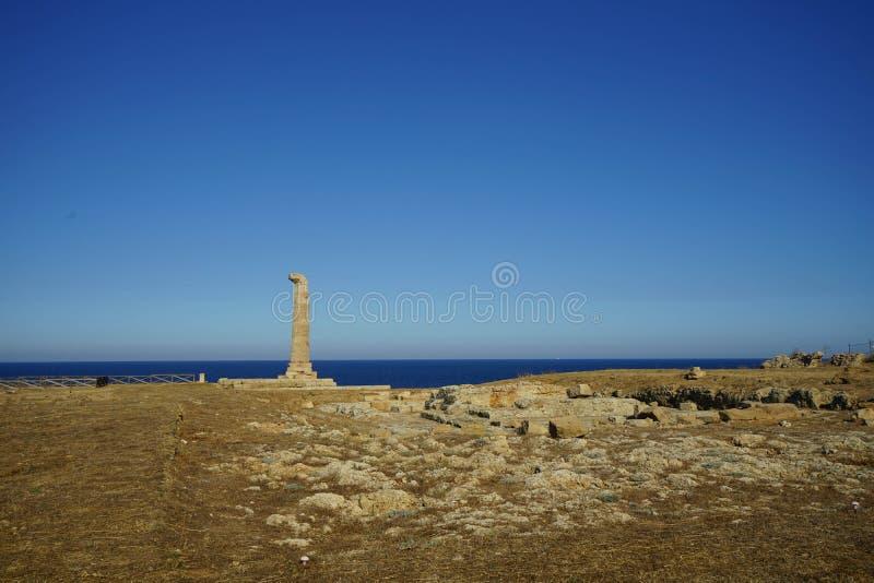 Capo Colonna - temple de Hera Lacinia photos libres de droits
