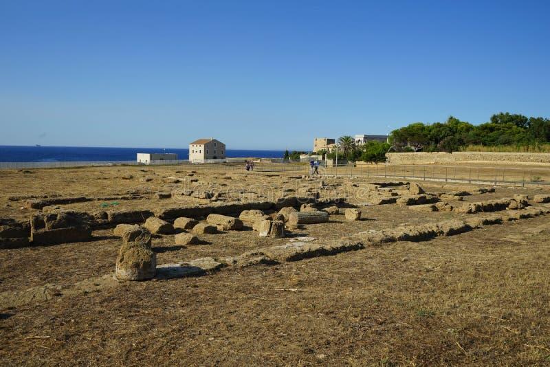 Capo Colonna - temple de Hera Lacinia images stock