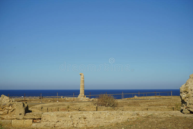 Capo Colonna - temple de Hera Lacinia images libres de droits