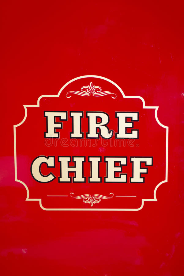 Capo dei vigili del fuoco immagine stock