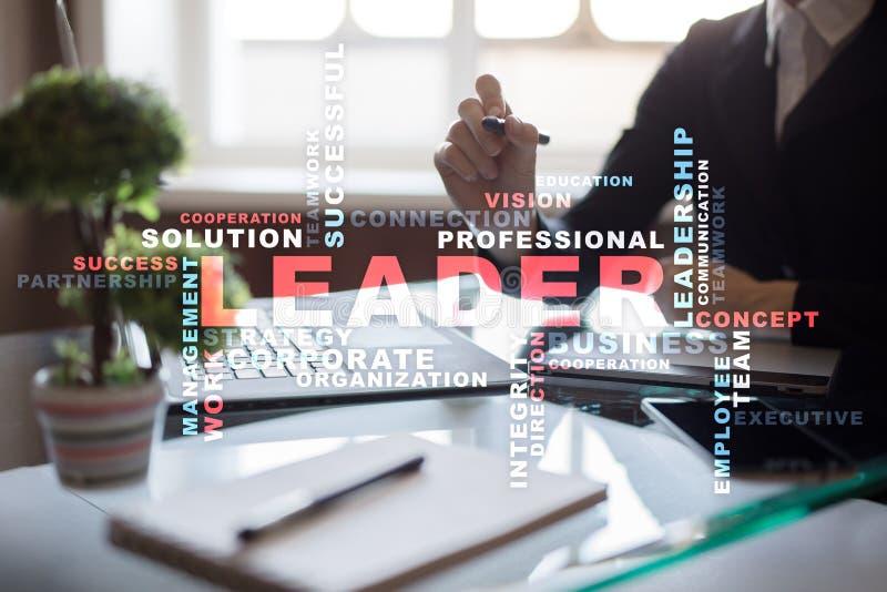 capo Direzione Team-building Concetto di affari Nuvola di parole fotografia stock libera da diritti
