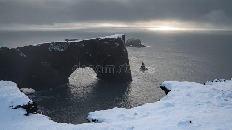 Capo Dyrholaey, Islanda immagine stock