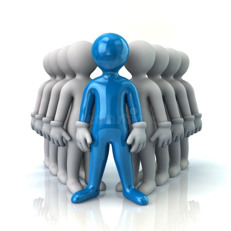 Capo e gruppo blu illustrazione di stock
