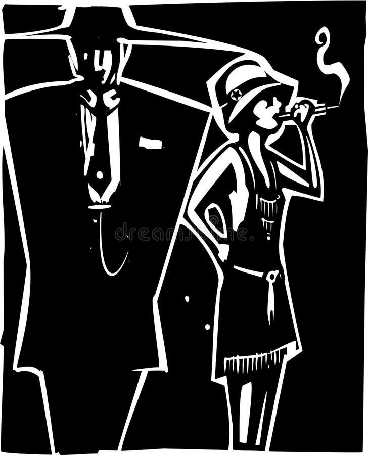 Capo e puttana della mafia illustrazione di stock