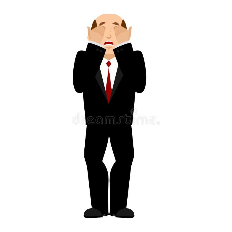 Capo Facepalm di OMG Oh il mio uomo d'affari del dio è frustrato Disappoi illustrazione vettoriale