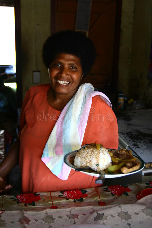 Capo femminile in Vanuatu fotografie stock libere da diritti