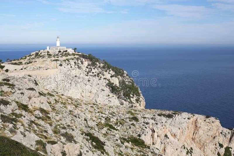 Capo Formentor sull'isola di Maiorca, Spagna fotografie stock
