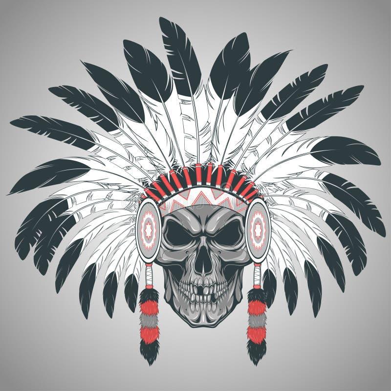 Capo indiano del cranio royalty illustrazione gratis