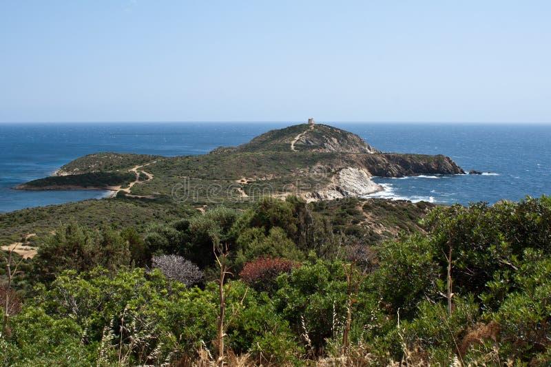 Capo Malfatano, Sardinia, Włochy obrazy royalty free