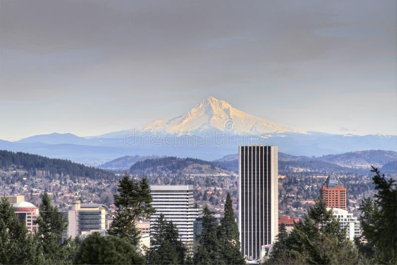 Capo motor céntrico del montaje del horizonte de Portland fotos de archivo libres de regalías