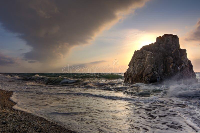 Capo Rasocolmo, Włochy zdjęcia stock