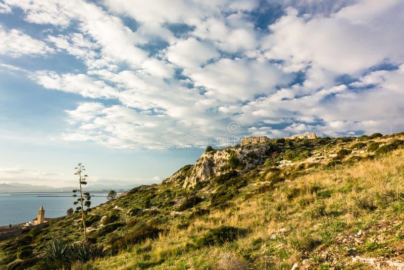 Capo Sant'Elia, Κάλιαρι, Σαρδηνία στοκ φωτογραφίες