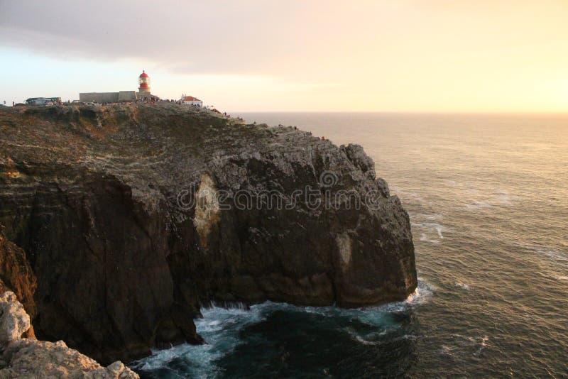 Capo Sao Vincente w Portugalia zdjęcia stock