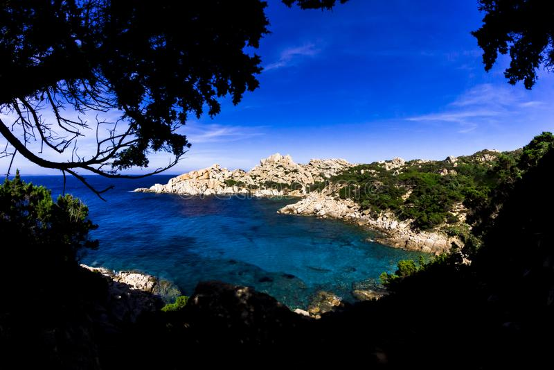 Capo Testa Panoramiczny widok fotografia royalty free