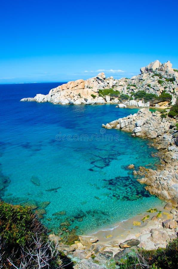 Capo Testa - schöne Küste von Sardinien stockbilder