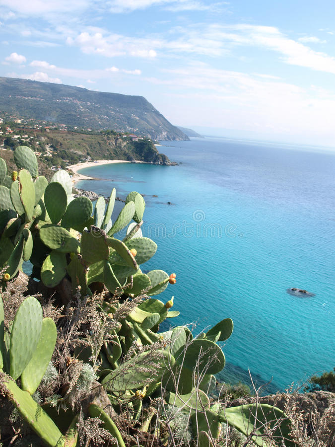 Capo Vaticano, Calabria, Italy. Attractive viewpoint in Calabria royalty free stock images