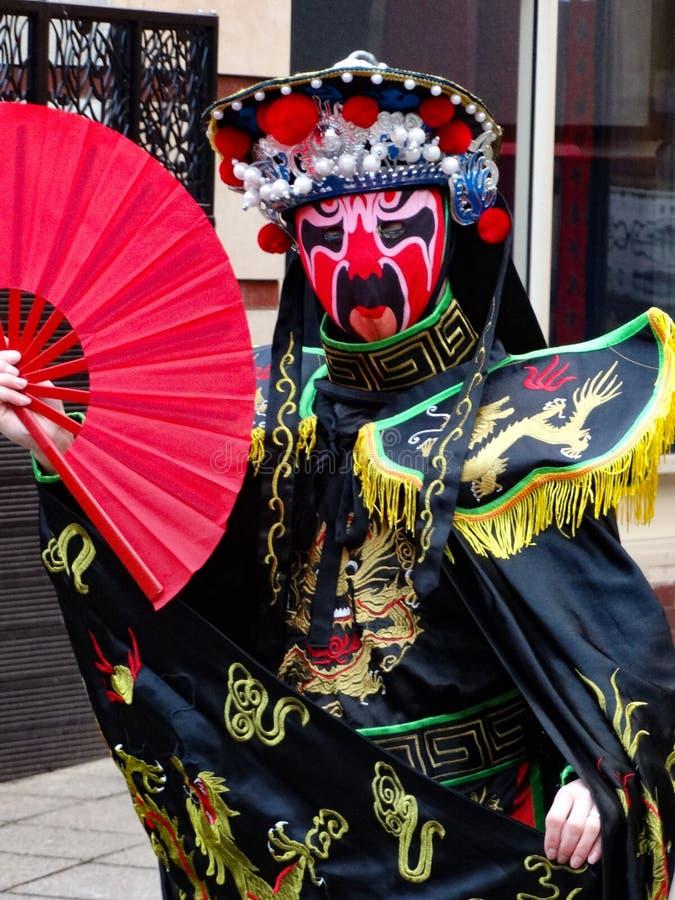 Capodanno Cinese celebrazioni 2020 Birmingham Regno Unito fotografia stock libera da diritti
