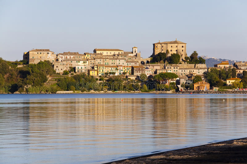 Capodimonte - Bolsena Italy. Capodimonte is a town in the Province of Viterbo, Lazio, central Italy, around 100 km northwest of Rome. It nestles on the coast of stock photography