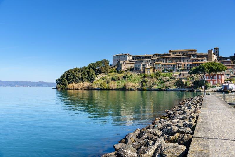 Capodimonte, lac Bolsena, Latium, Italie image stock