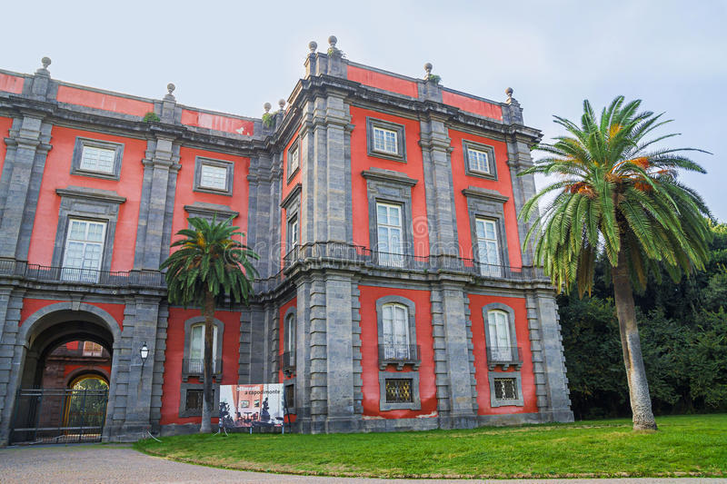 Capodimonte Museum in Naples, Italy. NAPLES, ITALY - NOVEMBER 12, 2015.Capodimonte Museum located in Bourbon Palace of Capodimonte ,one of the most important stock image