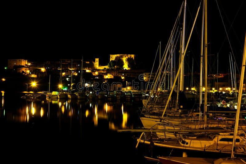 Capodimonte przy nocą obraz royalty free