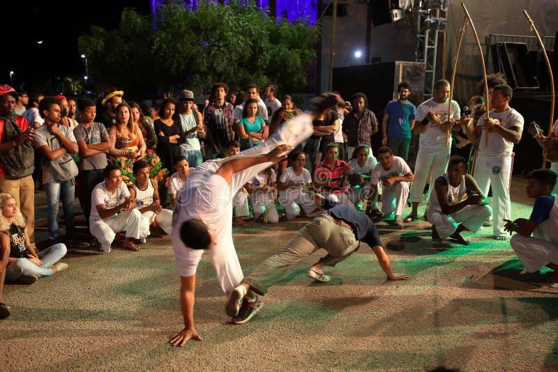 Capoeira舞蹈和武术节日在彼得罗利纳巴西 免版税库存图片