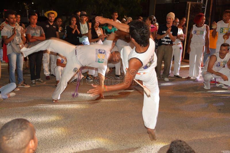Capoeira舞蹈和武术节日在彼得罗利纳巴西 图库摄影