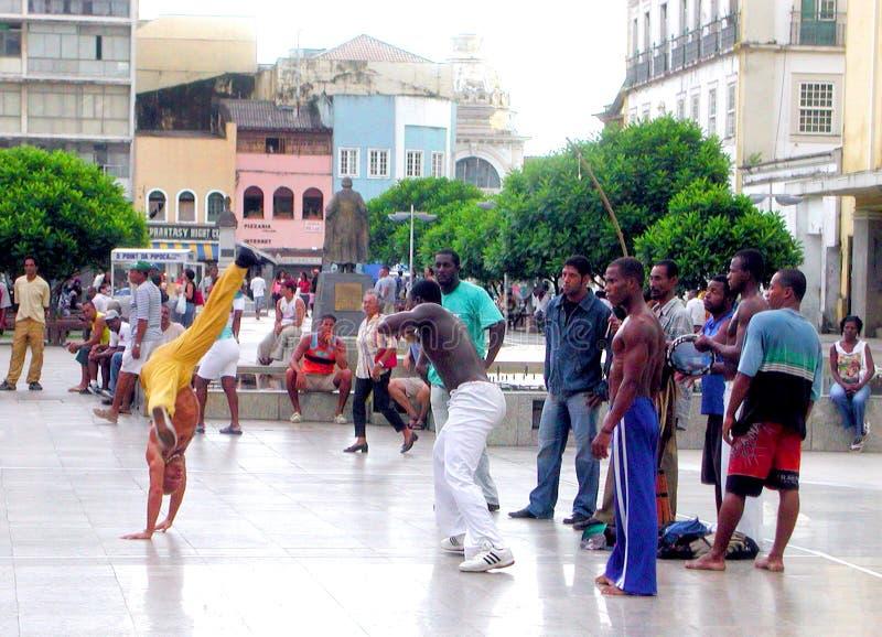 Capoeira του Σαλβαδόρ DA Bahia - Βραζιλία στοκ εικόνες με δικαίωμα ελεύθερης χρήσης