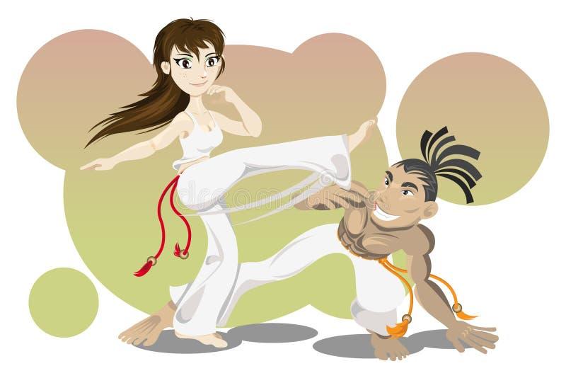 capoeira royalty ilustracja