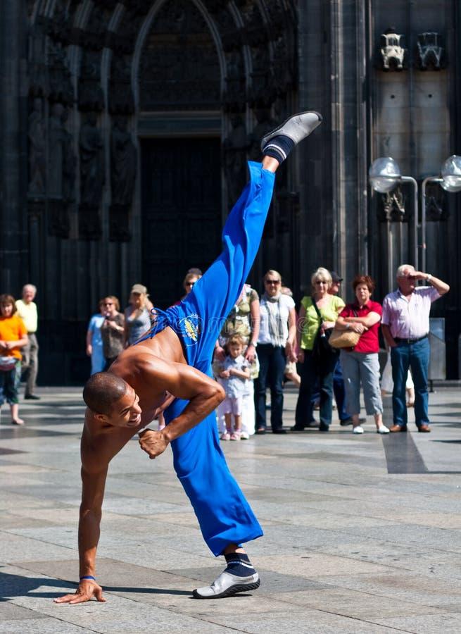 Capoeira 3 Cologne, Allemagne images libres de droits