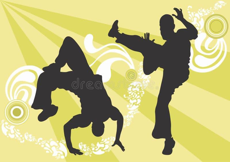 Capoeira stock illustratie
