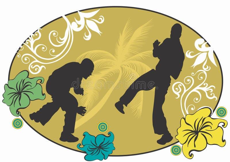 Capoeira illustrazione di stock