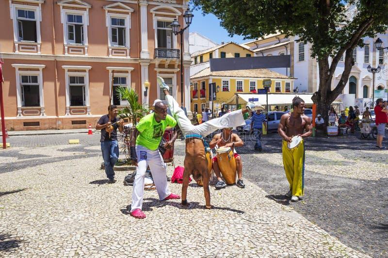 Salvador, Brazil, Capoeira on the streets. stock image