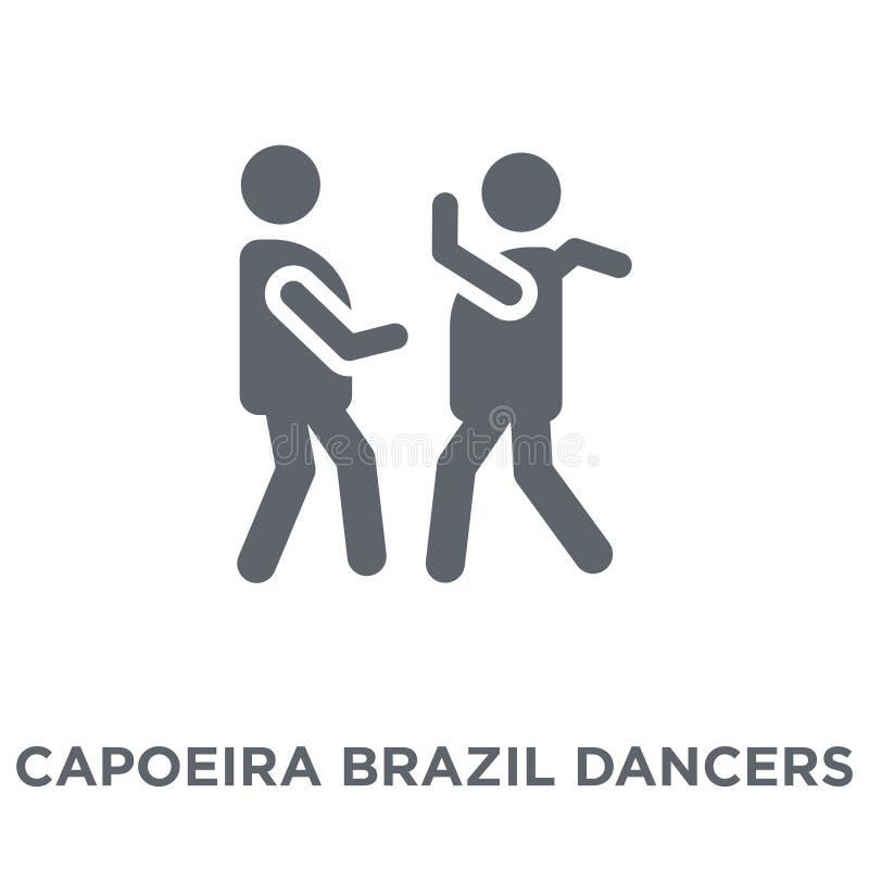 Capoeira Brazylia tancerzy ikona od Brazylijskich ikon inkasowych royalty ilustracja