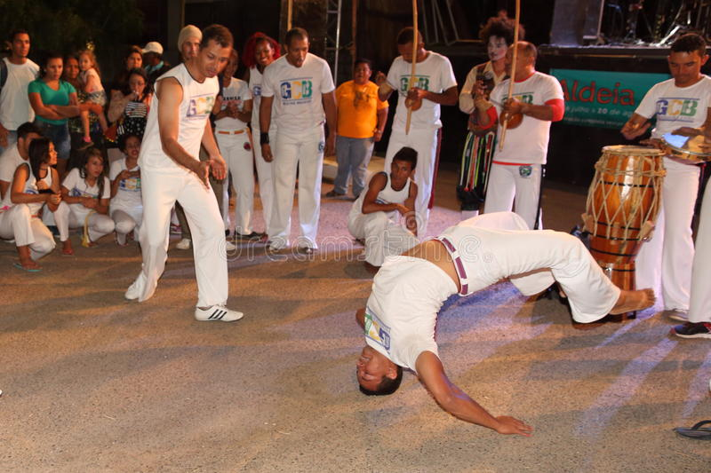 Capoeira dance and martial arts festival in Petrolina Brazil. People are fighting and dancing at the Capoeira dance and martial arts festival in Petrolina Brazil stock photography