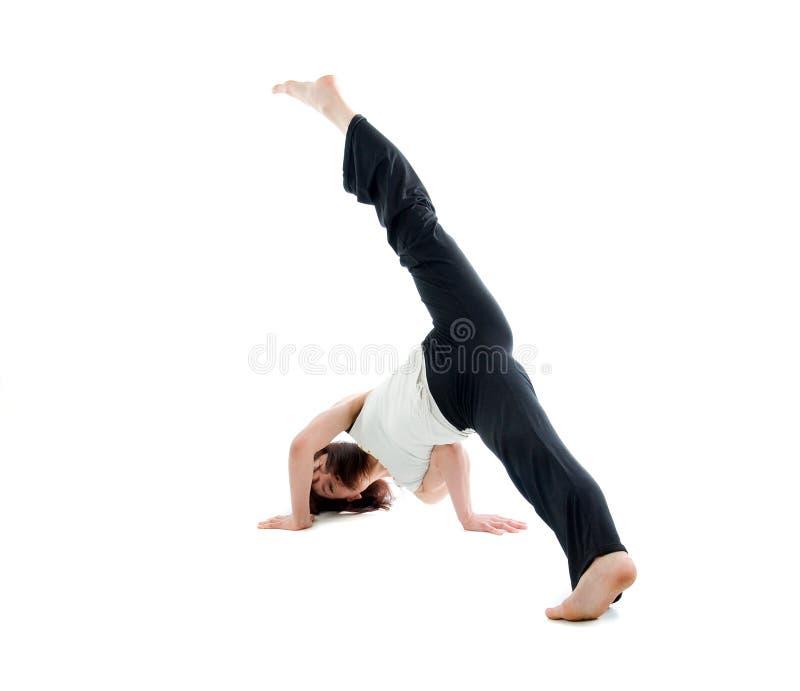 Capoeira dancer posing royalty free stock photos