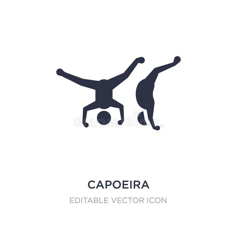 capoeira ikona na białym tle Prosta element ilustracja od sporta pojęcia royalty ilustracja
