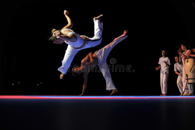 Download Capoeira Performance editorial stock photo. Image of lady - 15616693