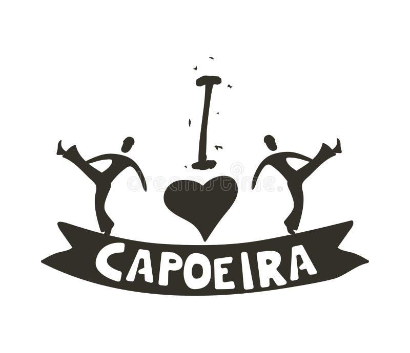 Capoeira slechts voor moedige affiche vector illustratie