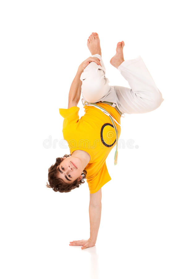 Capoeira Style Dancer Stock Images
